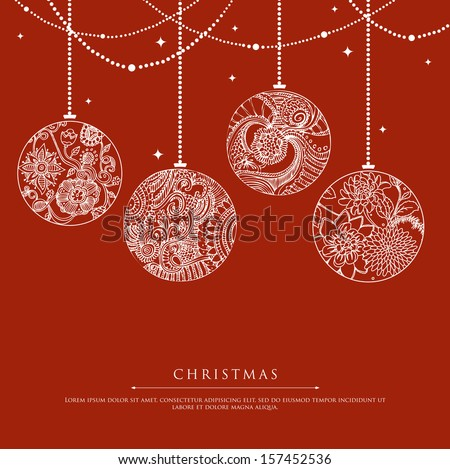 Vector illustration of Xmas balls - stock vector