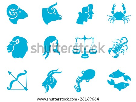 Vector illustration of zodiac signs.You can use it for your website, application or presentation - stock vector