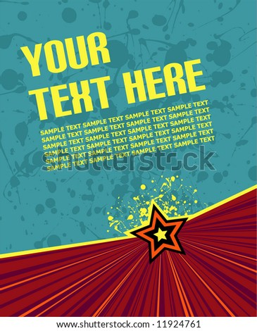 vector illustration on blue/green background ready for your own text - stock vector
