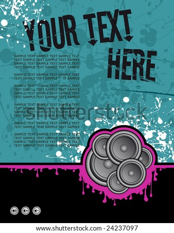 vector illustration on grunge background ready for your own text - stock vector
