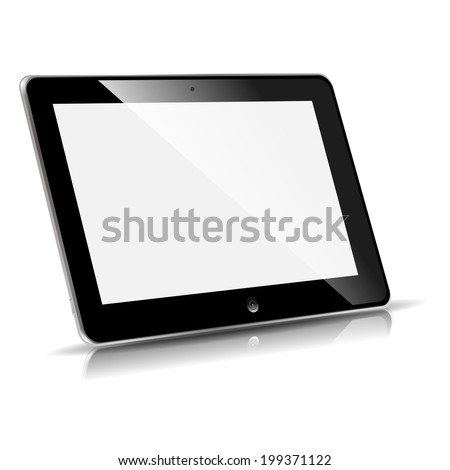 vector illustration on the side of the plate to turn on a white background - stock vector