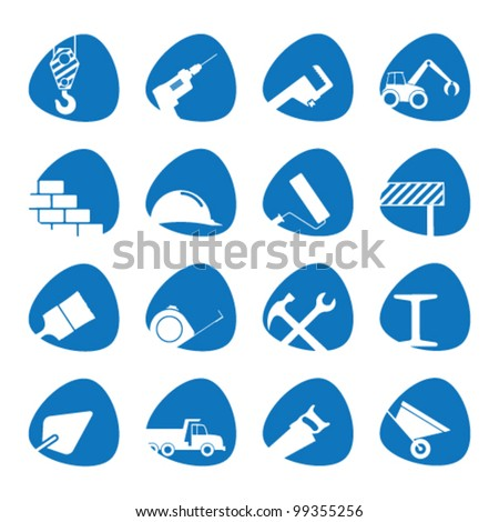 Vector illustration on the theme of building - stock vector