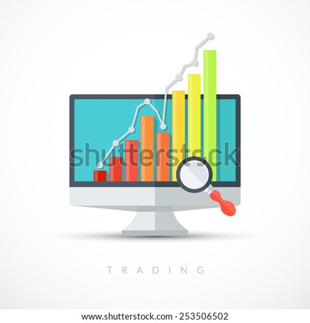 Vector illustration on the theme of business. - stock vector