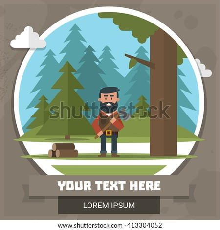 Vector illustration on the theme of outdoor recreation - stock vector