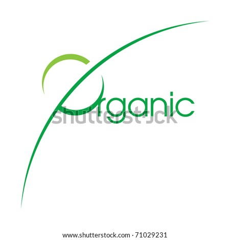 Vector illustration Organic Logotype decorative design element - stock vector