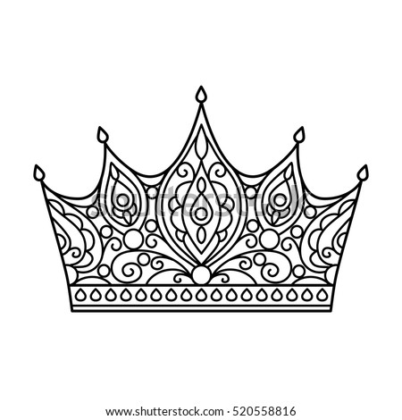 Princess Crown For Beauty Pageant Coloring Page on princess hair clip art