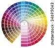 Vector illustration PANTONE color model - stock photo