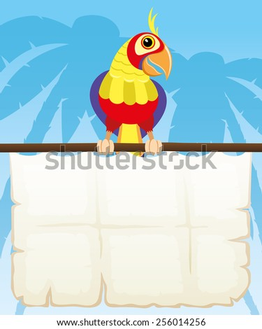 Vector illustration. Parrot.