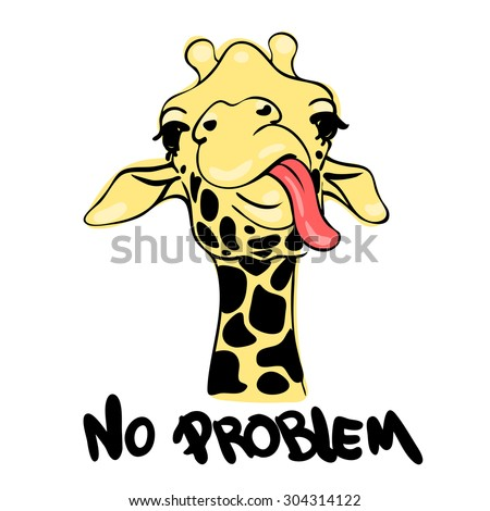 vector illustration print with giraffe images and text suitable for printing on a t - Pictures For Printing