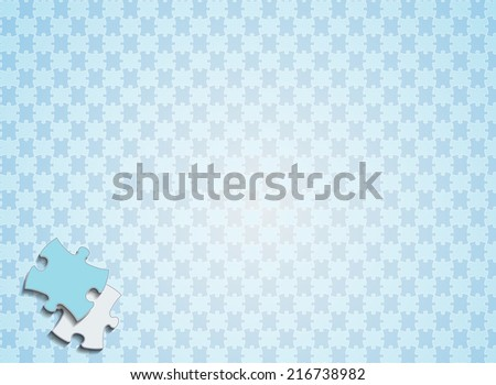 Vector illustration puzzle background eps 10 - stock vector