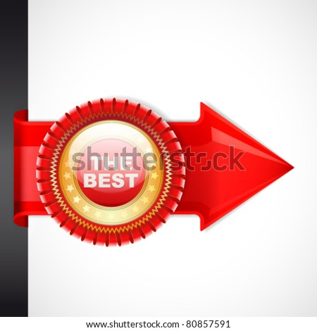 Vector illustration: quality mark. - stock vector