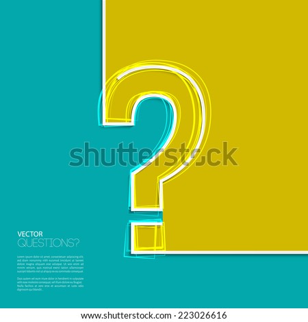 Vector illustration. Question mark icon in flat design.