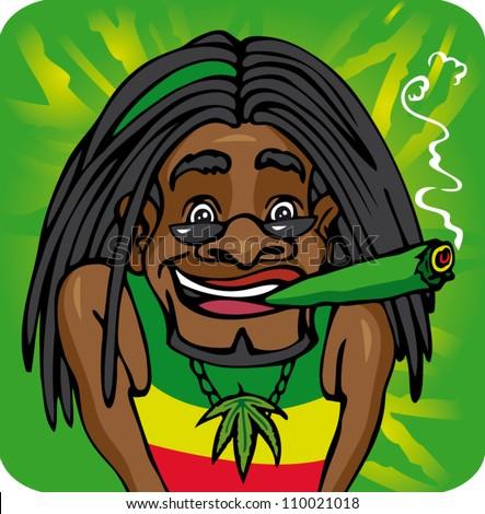 Man smoking marijuana stock photos
