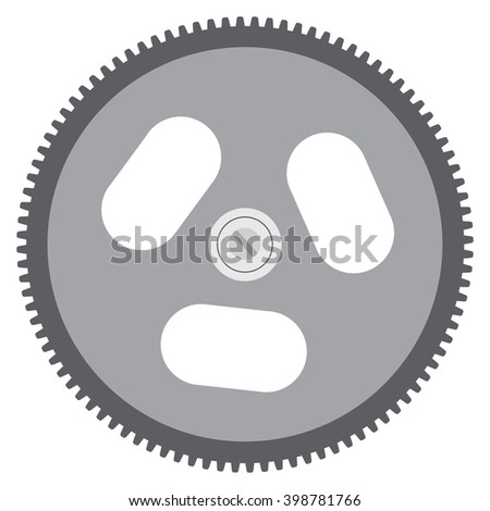 Vector illustration realistic cog, gear isolated on white background. Gear icon - stock vector