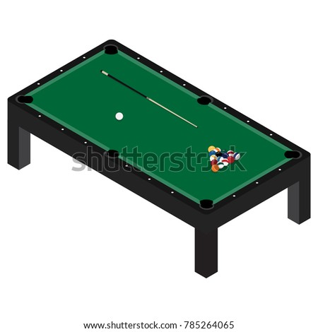 Vector Illustration Realistic Pool Table Set Stock Vector 785264065 - Shutterstock  sc 1 st  Shutterstock & Vector Illustration Realistic Pool Table Set Stock Vector 785264065 ...