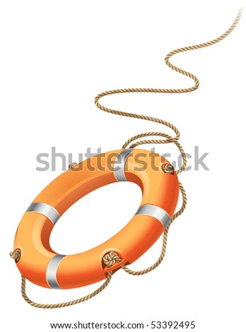 Vector illustration - rescue life belt - stock vector