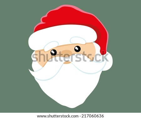Vector illustration. Santa Claus. - stock vector