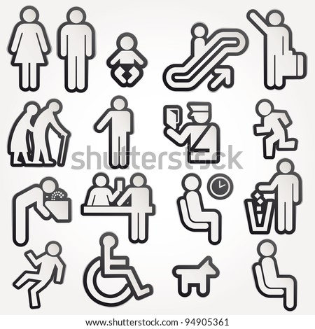 Vector illustration schematic Icons Sign Symbol Pictogram