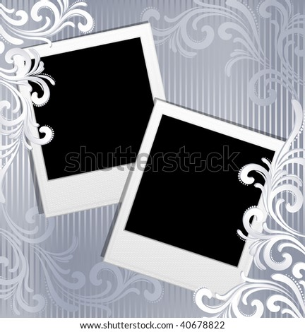 Vector illustration - scrapbook template - instant photo frames - stock vector