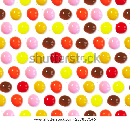 Vector illustration. Seamless pattern of colorful watercolor volume drops - stock vector