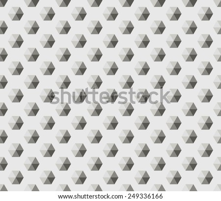 Vector illustration seamless pattern with black and white hexagon. Geometric texture. - stock vector