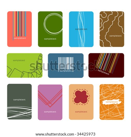 Vector illustration set of business cards - stock vector