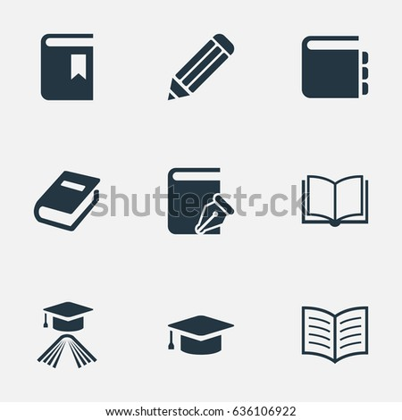 vector illustration set simple books icons stock vector royalty