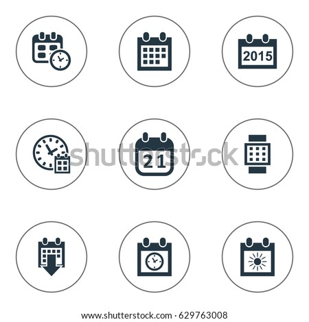 Vector Illustration Set Simple Plan Icons Stock Vector
