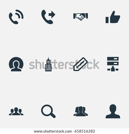 Vector illustration set simple estate icons stock vector 658509865 vector illustration set of simple teamwork icons elements member tag telephone and other platinumwayz