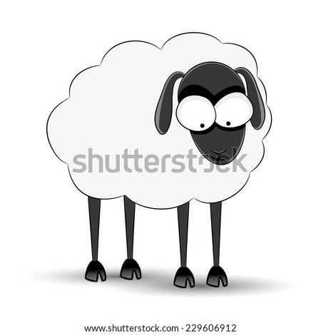 Vector illustration. Sheep. - stock vector