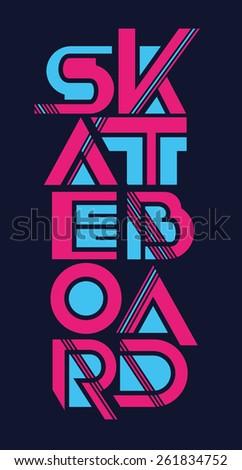 vector illustration skateboard freestyle street style legendary rider, graphics for t-shirt, vintage design - stock vector
