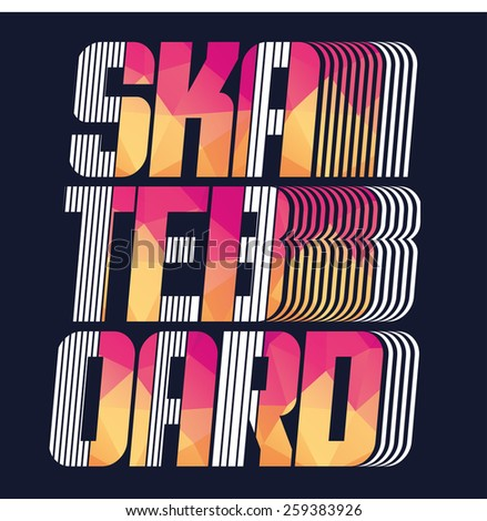 vector illustration skateboard freestyle street style ligendarny rider, graphics for t-shirt ,vintage design - stock vector