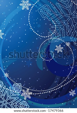 vector illustration - snowflake