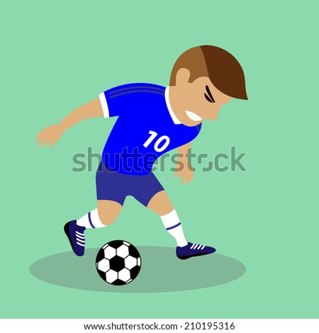 Vector illustration Soccer player - stock vector