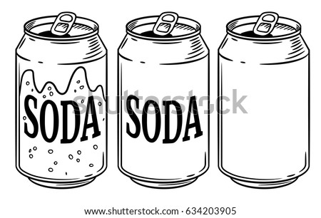 Vector Illustration Soda Can Isolated On Stock Vector ...