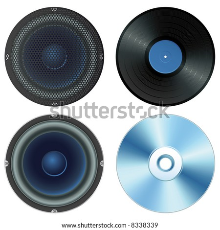 Vector illustration - sound set (isolated)