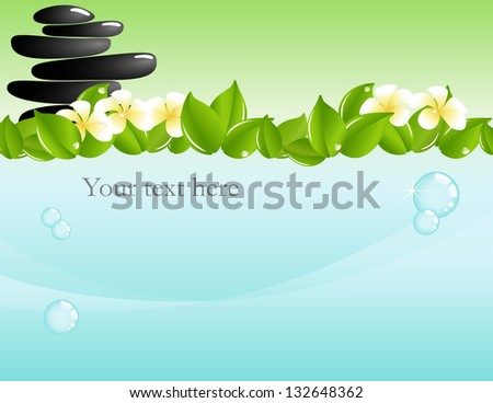 Vector illustration: Spa & wellness graphic design elements for cards & background - stock vector