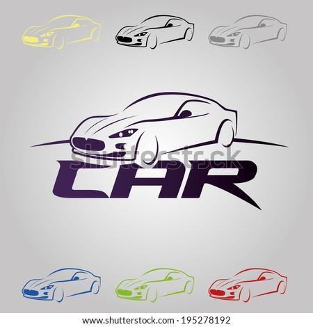 vector illustration sports car - stock vector
