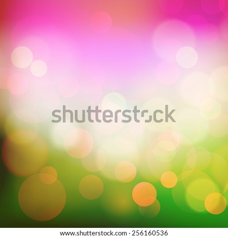 Vector  illustration Spring  Abstract holiday bokeh light background