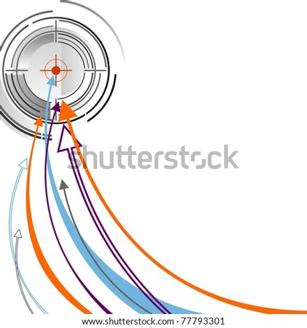 Vector illustration success in business. - stock vector