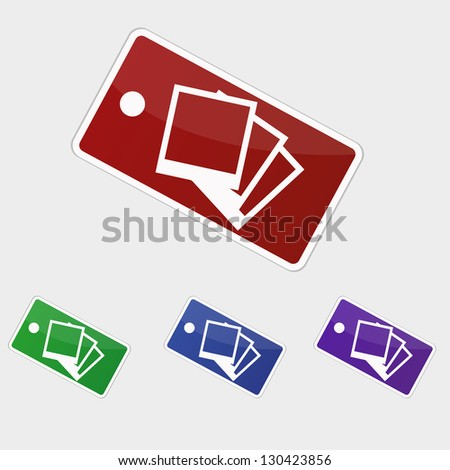Vector illustration tag - Photographs pictures - stock vector