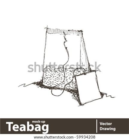 Vector illustration. Tea bag isolated on white background. - stock vector