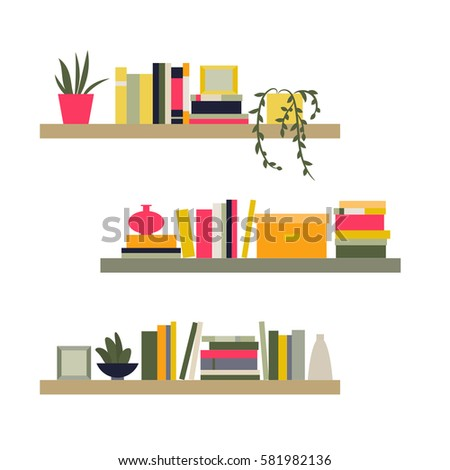 home library the elements for graphic design flat style