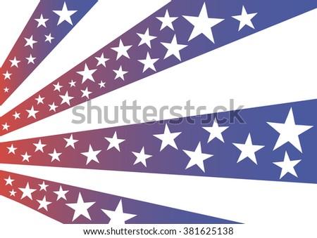 Vector Illustration Symbols American Flag Stars Stock Vector 2018