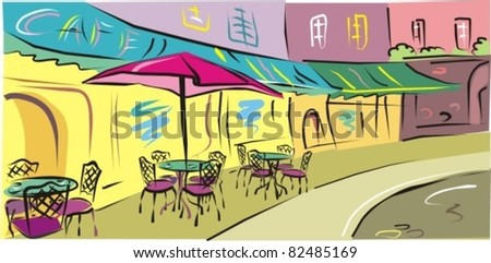 Vector Illustration to the old town - stock vector