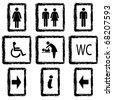 Vector illustration toilette sign - stock vector