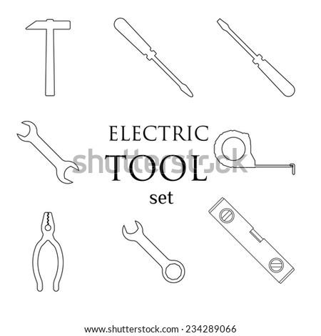 Vector illustration tools. flat design - stock vector