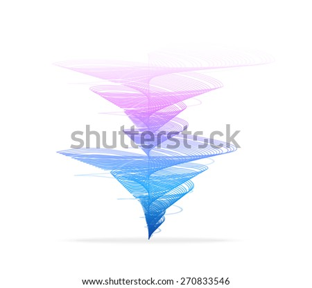 Vector illustration Tornado, vortex icon. Hurricane on white background - stock vector