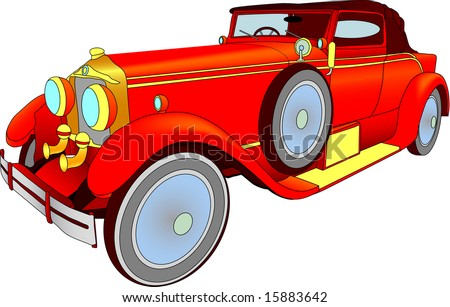 Vector - illustration veteran motor car - stock vector