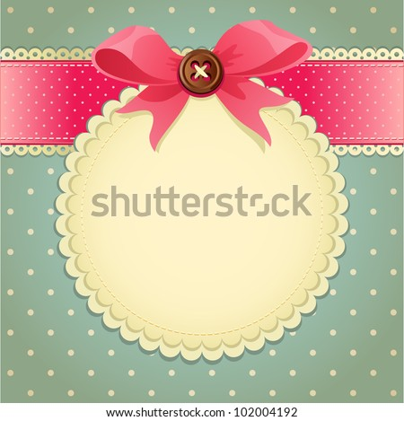 Vector illustration -  vintage scrapbook background - stock vector